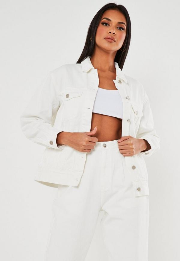 White Oversized Denim Jacket by Missguided