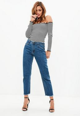 Blue Wrath Straight Leg Mid rise Clean Cut Hem Jeans