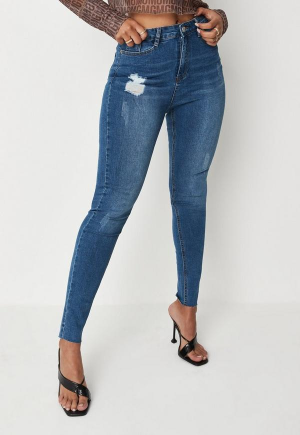 a6d67d195ebe6 Blue Sinner Clean Distressed Skinny Jeans. Previous Next