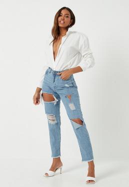 9774eedb15 Jean taille haute | Jean taille très haute femme - Missguided