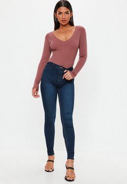 Granatowe spodnie jeansy Lawless