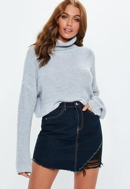 Ladies Missguided High Waist Mini Skirt Grey Size 16 Clothing, Shoes & Accessories Women's Clothing