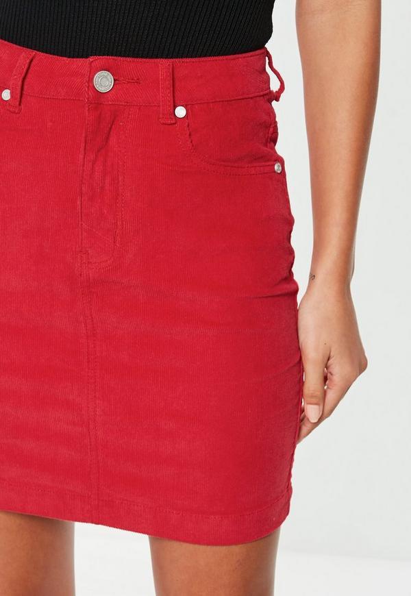 37f8a3412dc6 ... Denim    Red Superstretch Corduroy Mini Skirt. Previous Next
