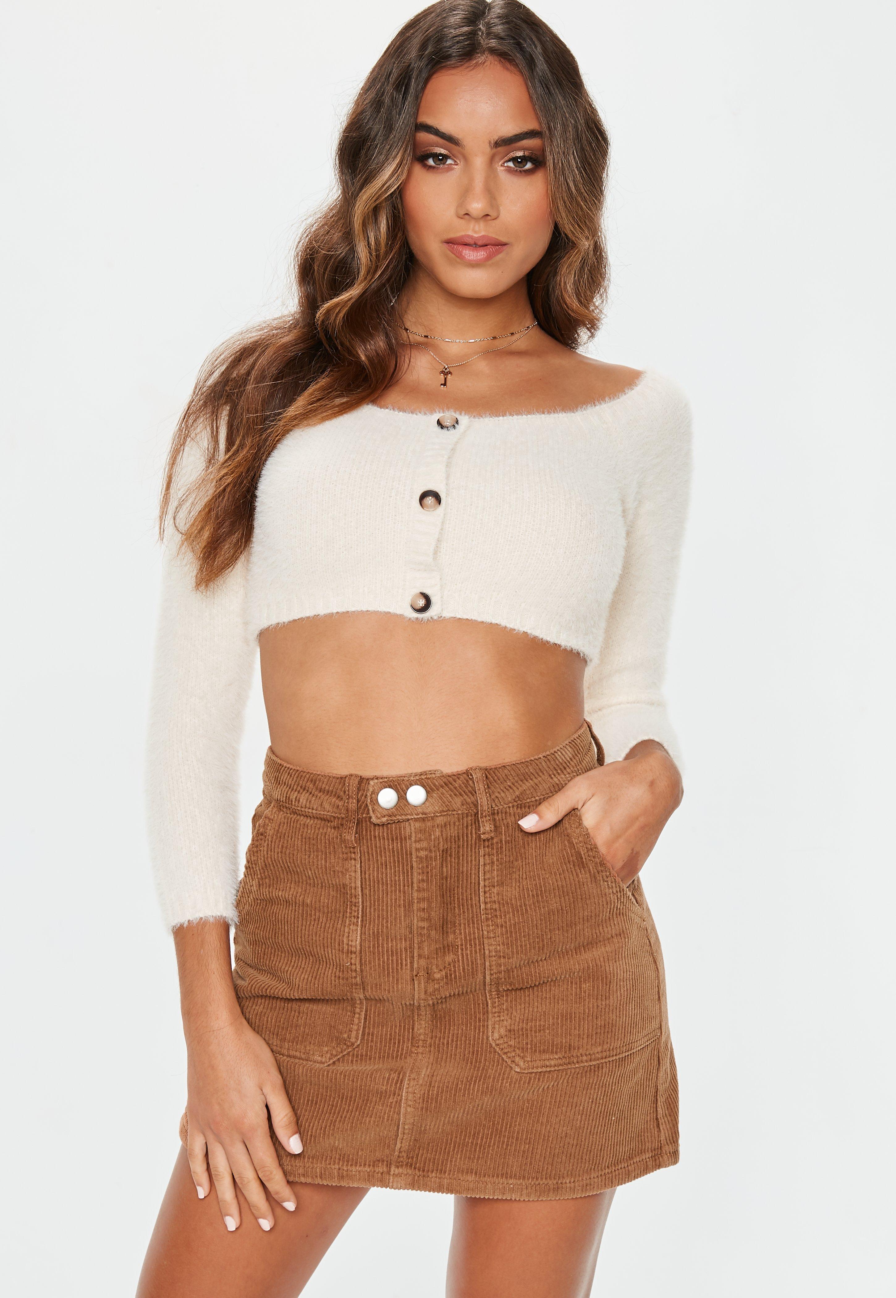 ebc2ea2edd Tan Cord Mini Skirt   Missguided
