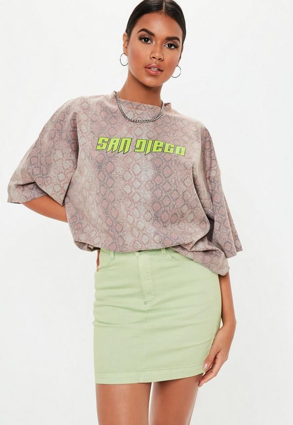 365af545d6 ... Stretch Denim Mini Skirt. Previous Next