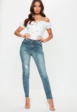 5e9c77c4287 Blue Sinner Vintage Ripped Knee Jeans