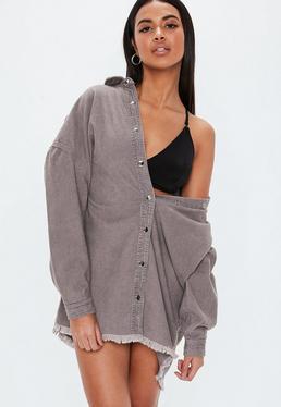 Shirt Dresses Button Shirt Dresses Missguided