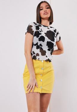 1c54a209e3 Yellow Denim Skirts | Women's Yellow Denim Skirts Online - Missguided