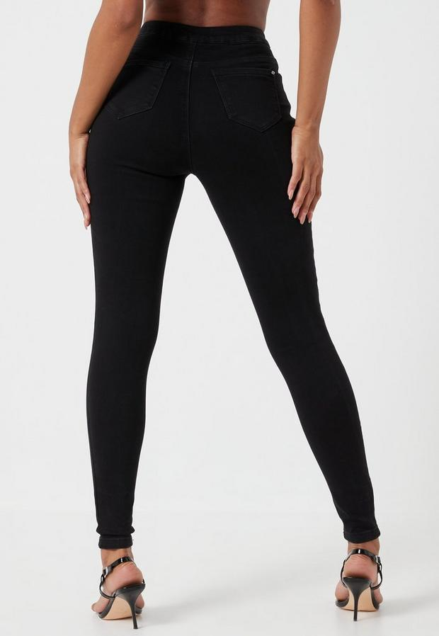Missguided - Highwaist Super Stretchy Skinny Jeans - 4