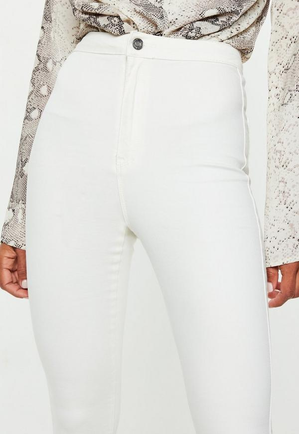 Vice High Waisted Skinny Jeans White | Missguided