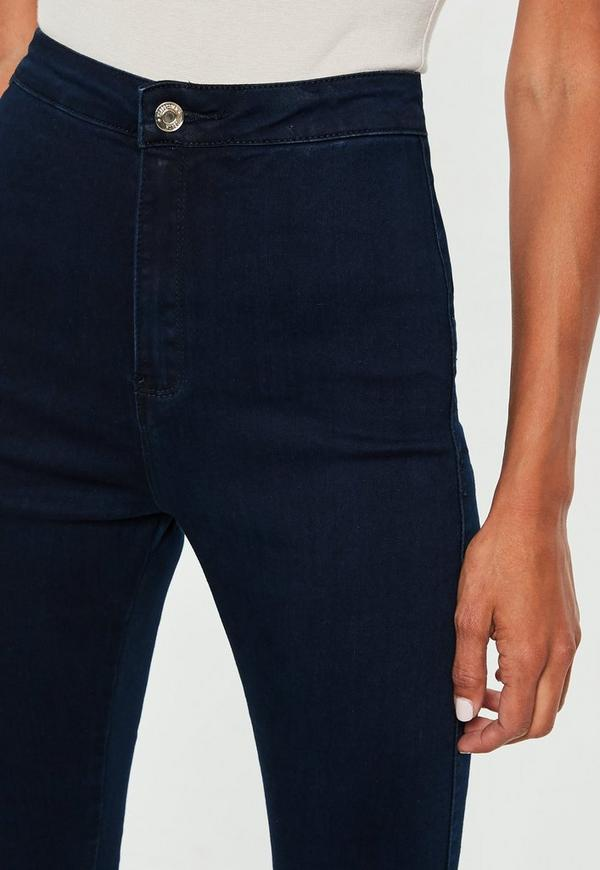 Vice Highwaisted Skinny Jeans Indigo   Missguided