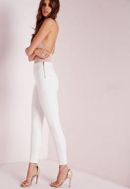 Jegging blanc taille haute Lawless