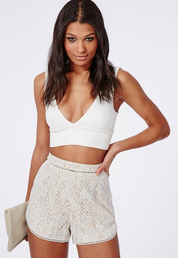 Lace Runner Shorts White