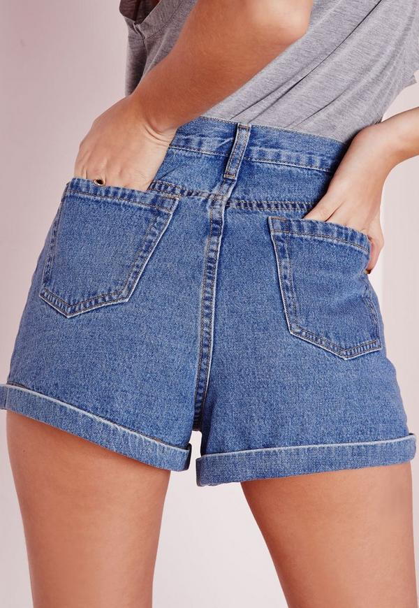 Wear high waisted styles to match a vintage outfit, or belted low rise with a tucked in boho top. Pair them with ankle strap heels or classic converse. Choose from a chic selection of high-waisted jean shorts, stretchy denim shorts, distressed shorts, or boyfriend fitted jean shorts.