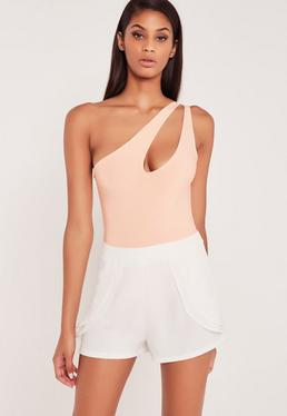 Carli Bybel Pleated Shorts White