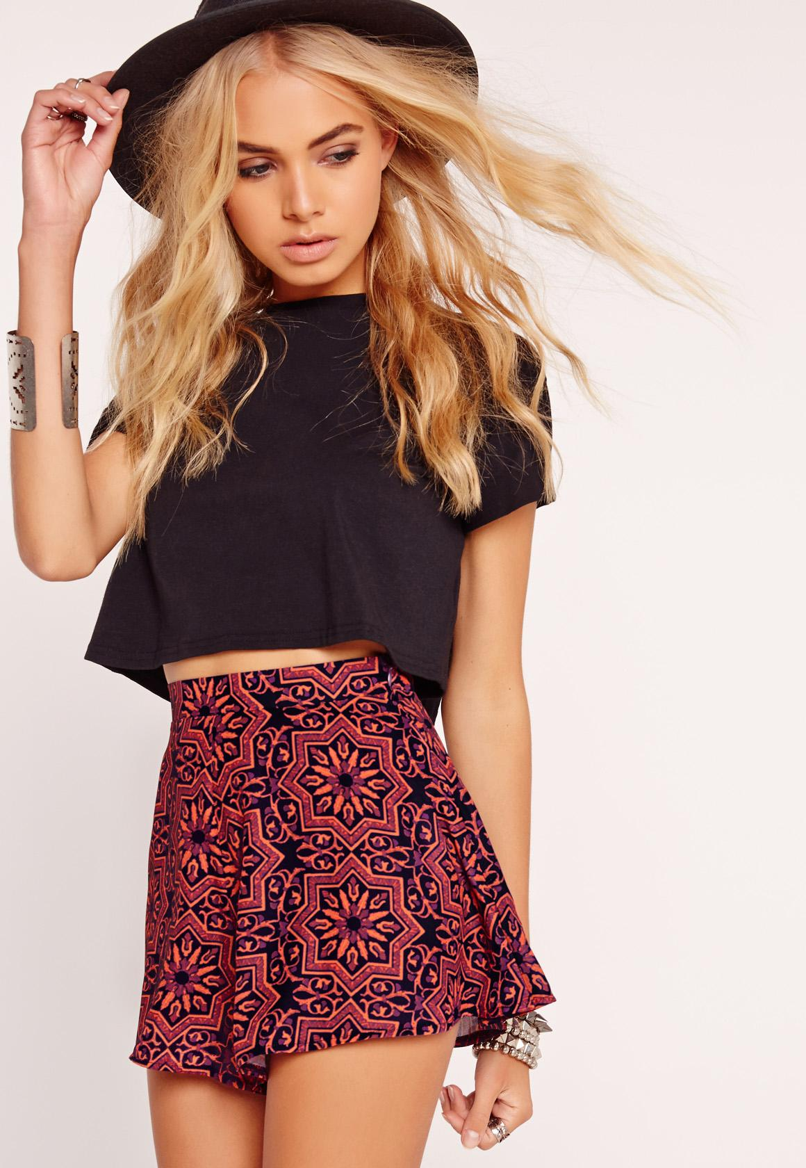 Floral Print Shorts - Multi Missguided Jjz4b5vsg