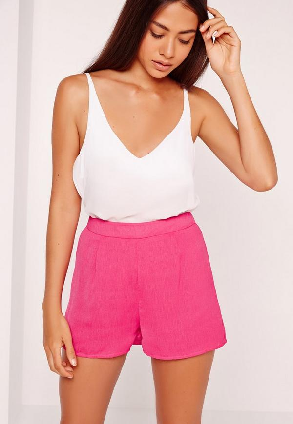 Cheescloth High Waisted Shorts Pink