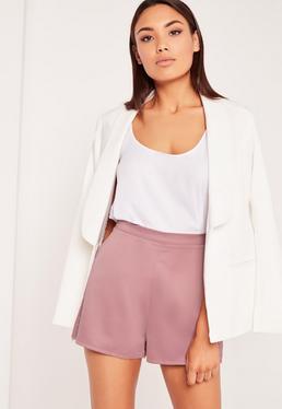 Satin Shorts Lilac