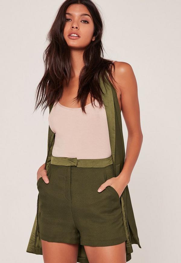 Satin Highwaisted Co Ord Shorts