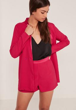 Suit High Waisted Shorts Pink