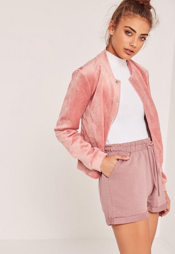 Turn Up Jogger Shorts Pink