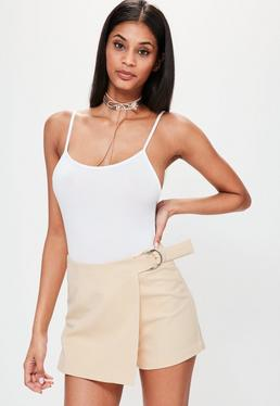 Nude Side Ring Detail Skort