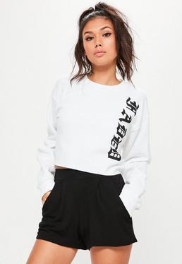 Short noir en jersey avec poches