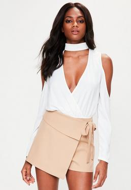 Nude Wrap Over Skort