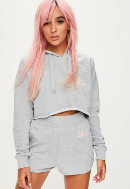 Barbie x Missguided Grey Runner Short