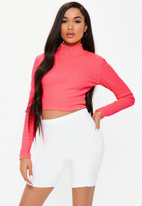 White Slinky Cycling Shorts Missguided