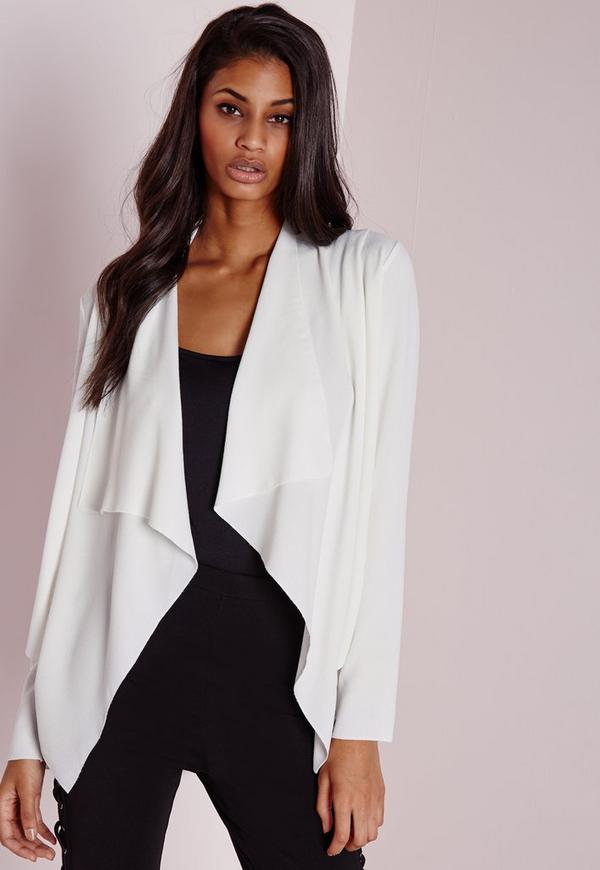 Waterfall Blazer White