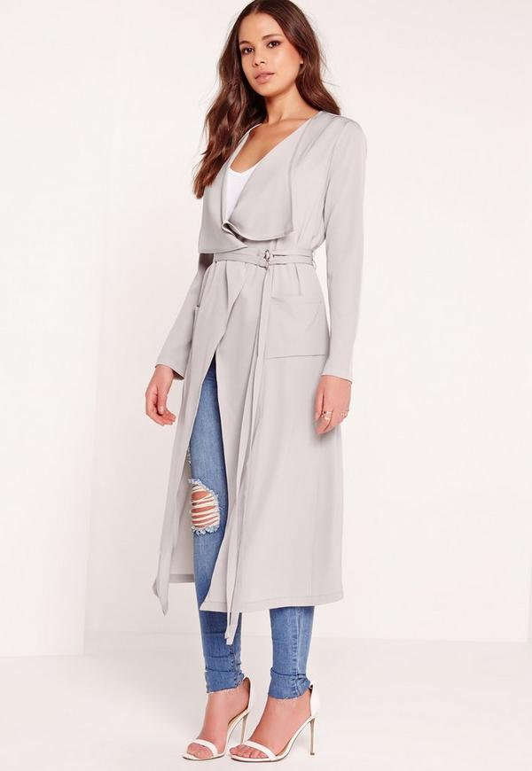 Draped Duster Jacket Grey