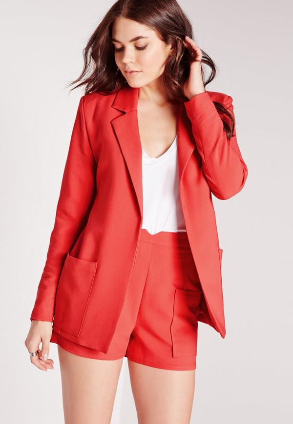 Boyfriend Suit Blazer Red