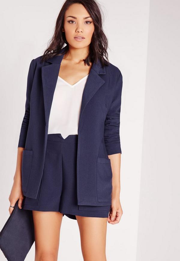Boyfriend Suit Blazer Navy