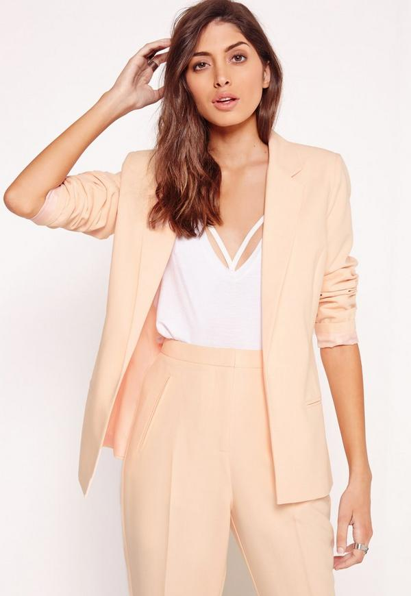 Clean Edge Tailored Blazer Nude