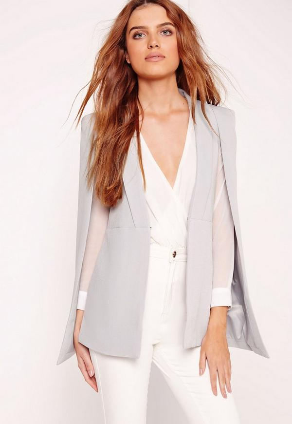 Cape Tailored Blazer Grey