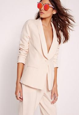 Tailored Blazer Nude