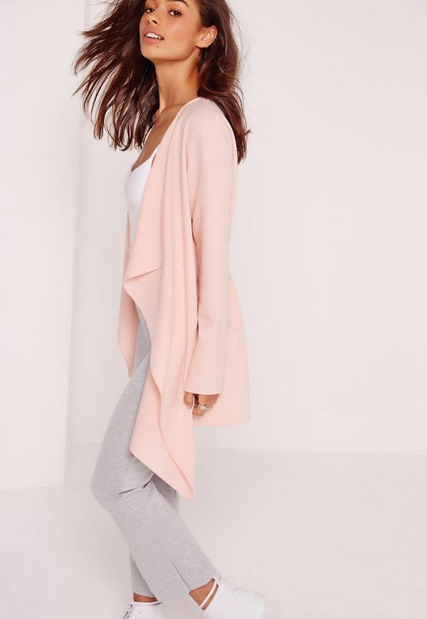Waterfall Jacket Blush | Missguided Ireland