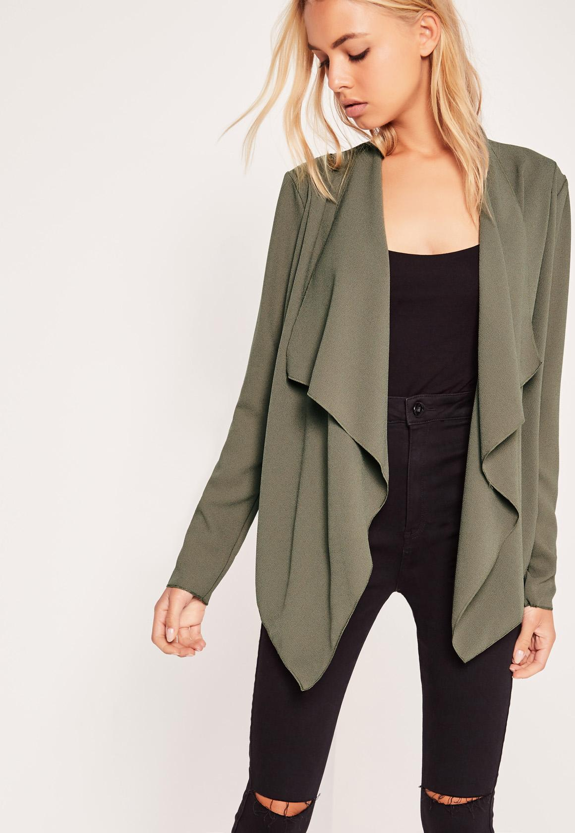 Waterfall Jacket Khaki | Missguided