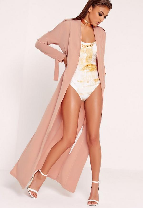 Maxi Duster Jacket Pink
