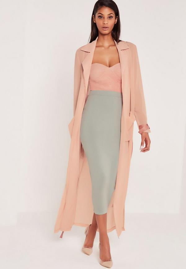 Carli Bybel Maxi Duster Coat Pink