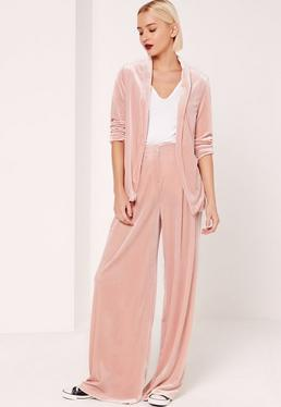 Velvet Blazer Pink