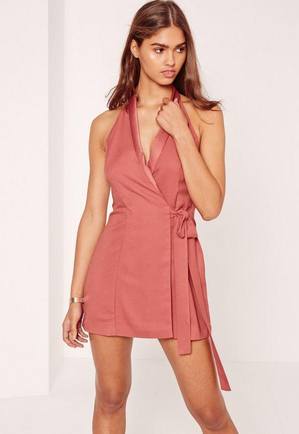 Pink Halterneck Sleeveless Waistcoat