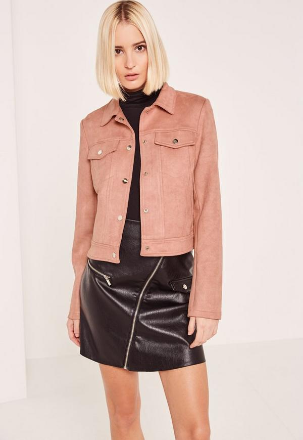 Pink Faux Suede Jacket