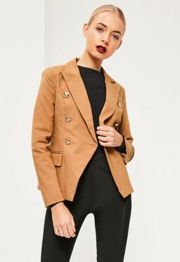 Blazer nude style militaire