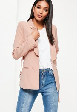 Nude Ring Belted Blazer