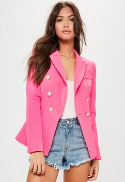 Pink Tailored Military Jacket
