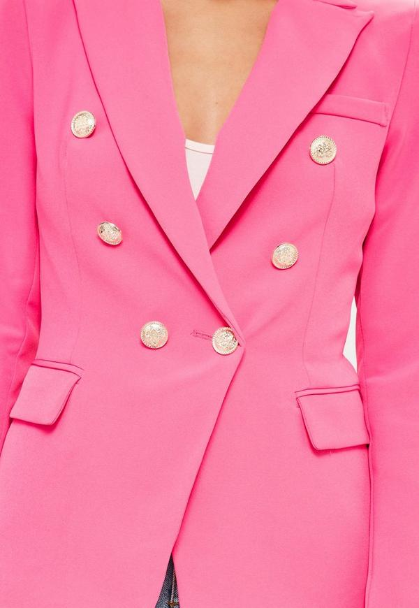 Pink Tailored Military Jacket | Missguided