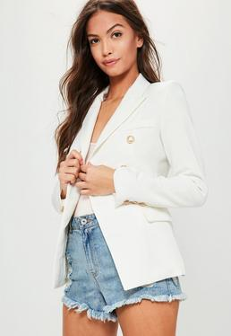 White Tailored Military Jacket