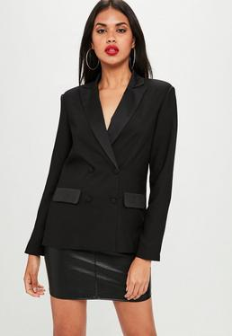 Black Tailored Blazer Jacket